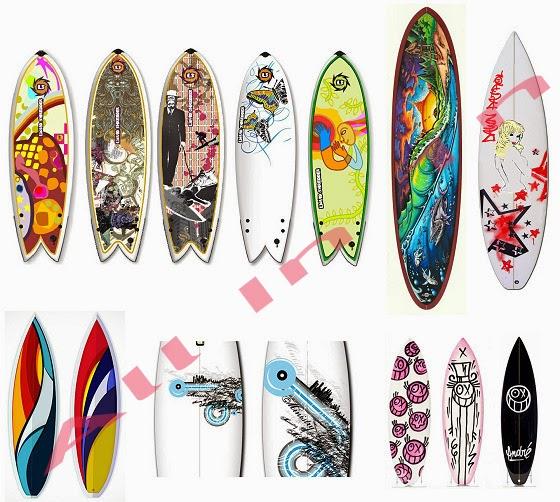 Surfboard designs