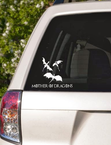 Game of Thrones Inspired Dragons Car Window Decal Car Window Decal