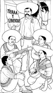 Dibujo de Emiliano Zapata Revolución Mexicana para colorear
