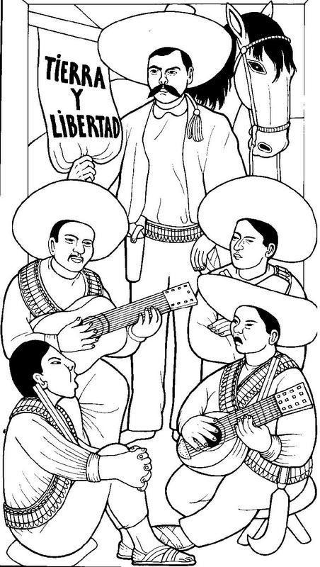 Dibujos: Dibujo de Emiliano Zapata Revolución Mexicana para colorear