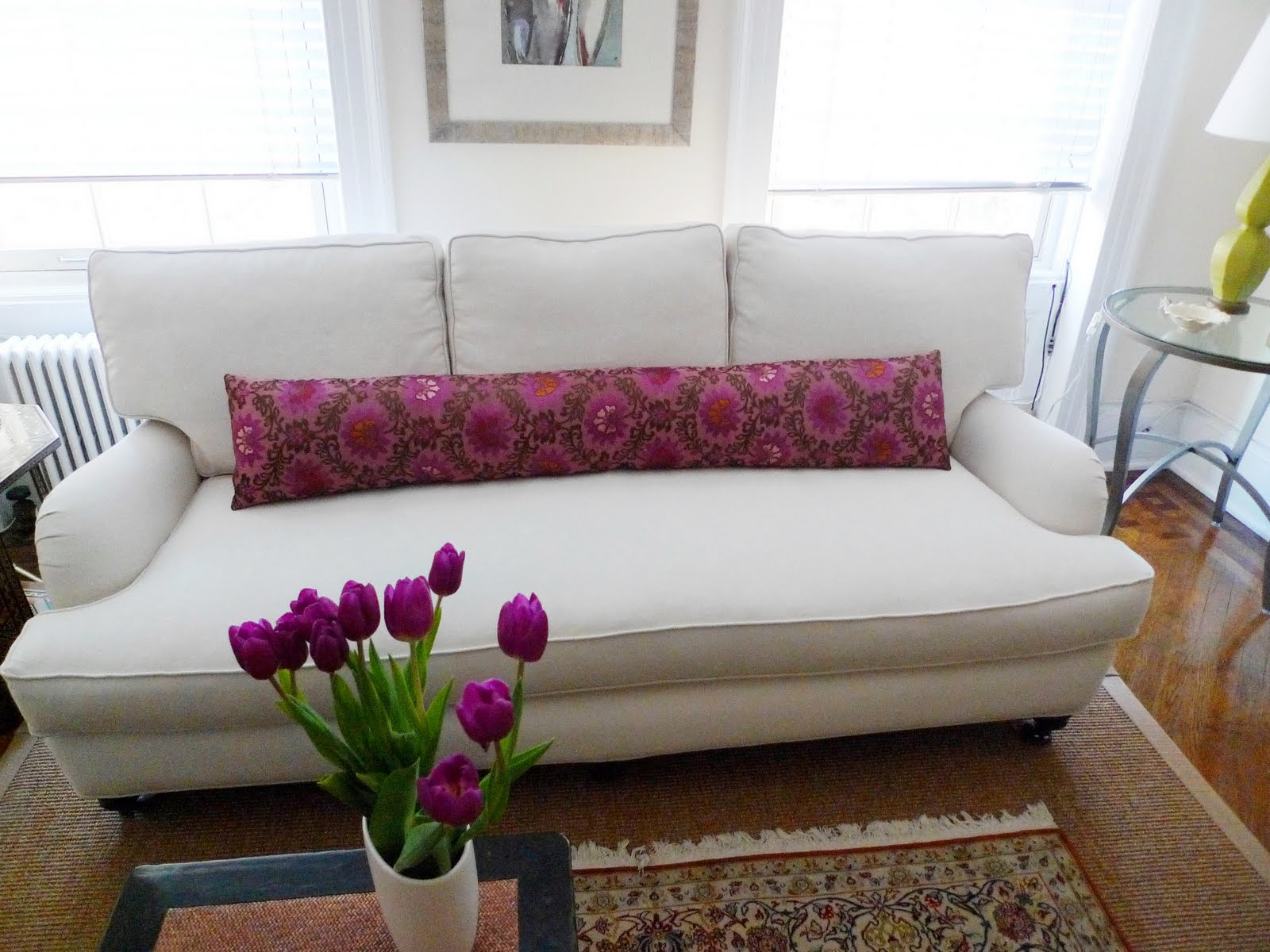 COCOCOZY: BEFORE & AFTER: MICRO MAKEOVER - ANATOMY OF A NYC SOFA REDO!