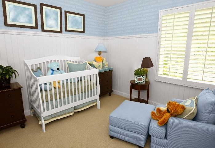 Creative wall painting ideas for baby nursery for Baby boy room paint ideas