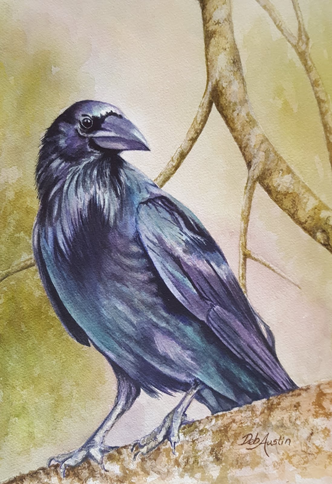 "Crow (watercolor 9""x12"")"