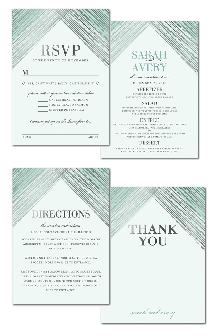 chic wedding invite