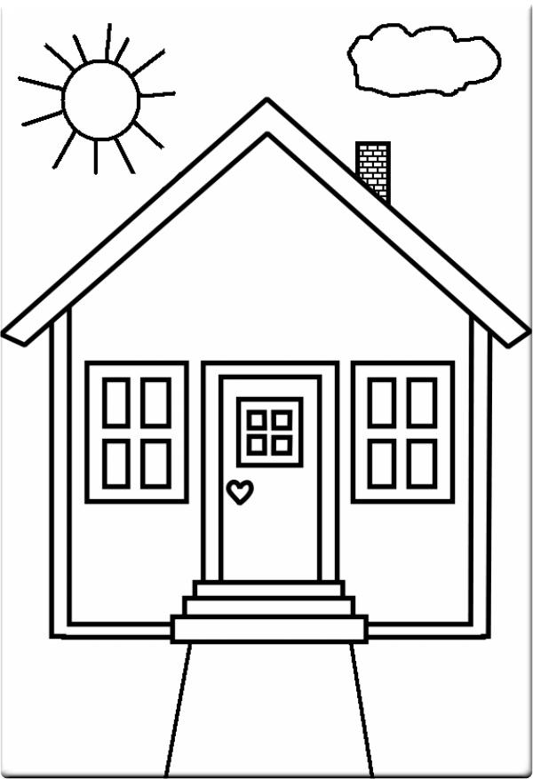 Раскраска дом - 2