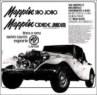 MP Lafer, carro esportivo anos 70; reclame de carros anos 70. brazilian advertising cars in the 70. os anos 70. história da década de 70; Brazil in the 70s; propaganda carros anos 70; Oswaldo Hernandez;
