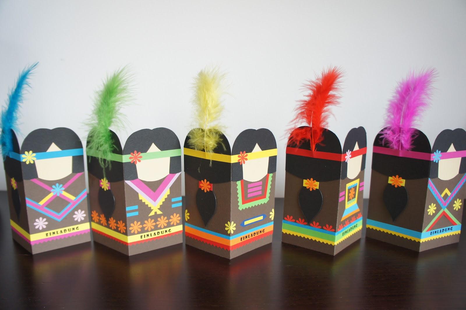 Einladung zur Indianerparty
