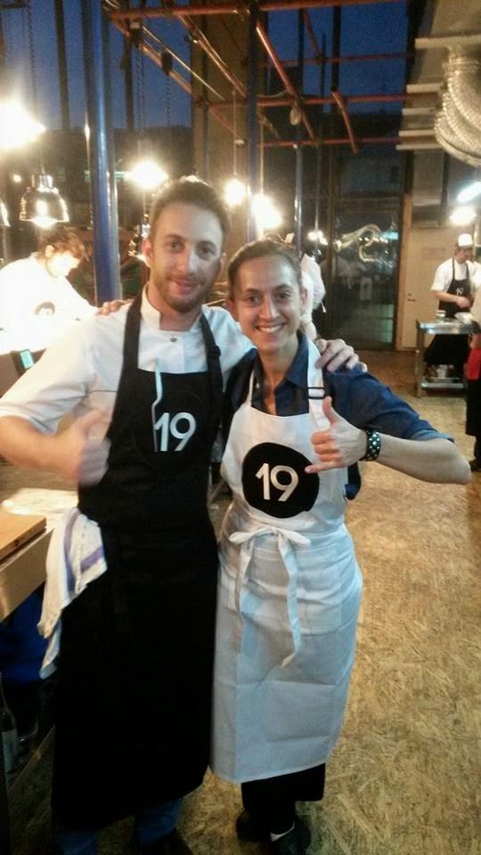 Soledad Nardelli cocinando en Moscu