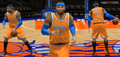 Knicks Orange Alternate Jersey