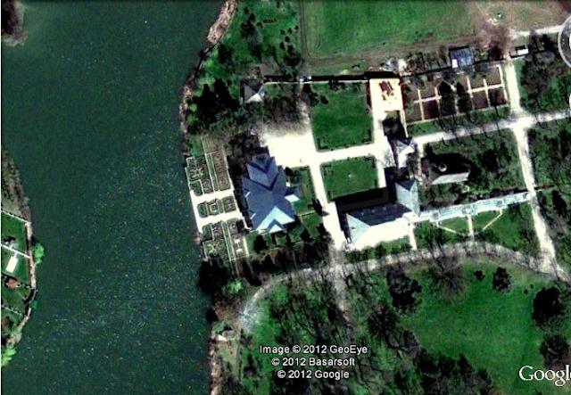 curtea domneasca mogosoaia vedere din satelit