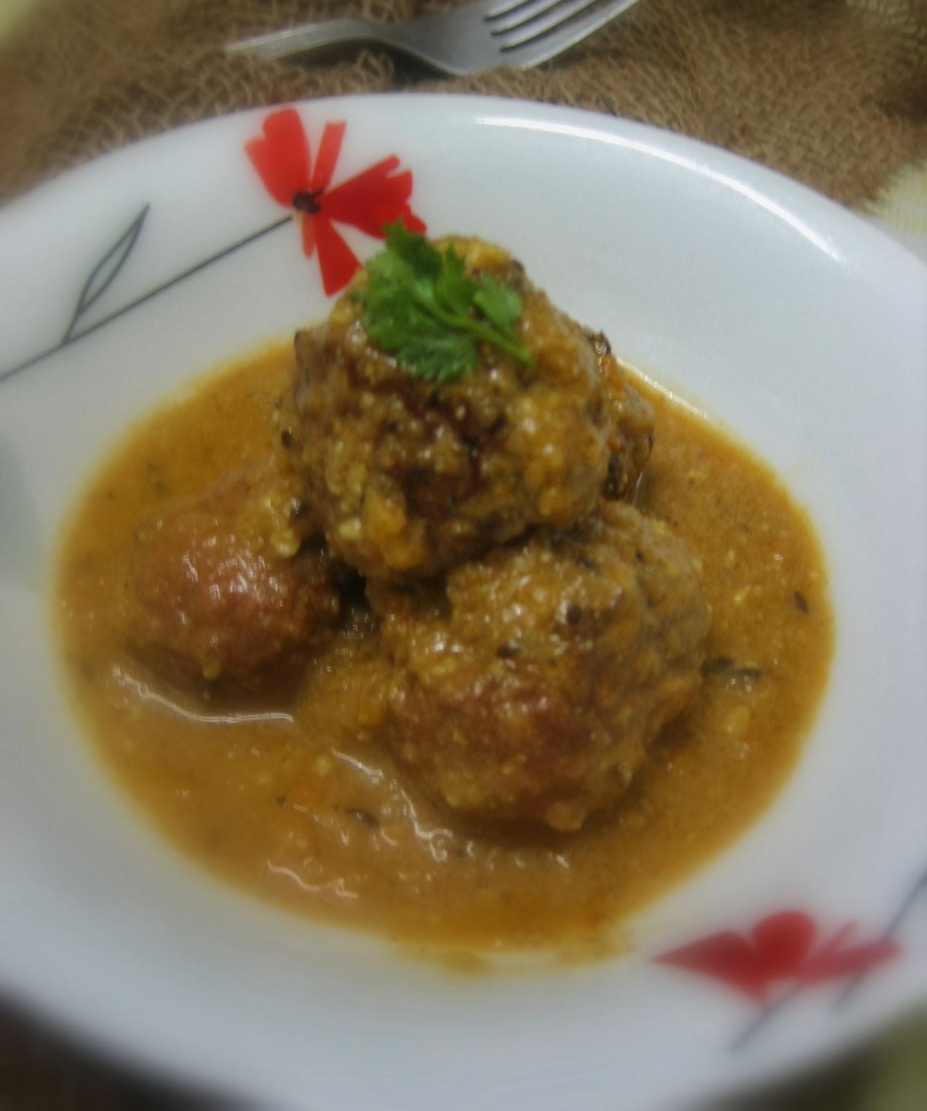 lauki/ bottle gourd kofta curry 3
