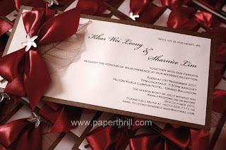 Starfish wedding invitation card