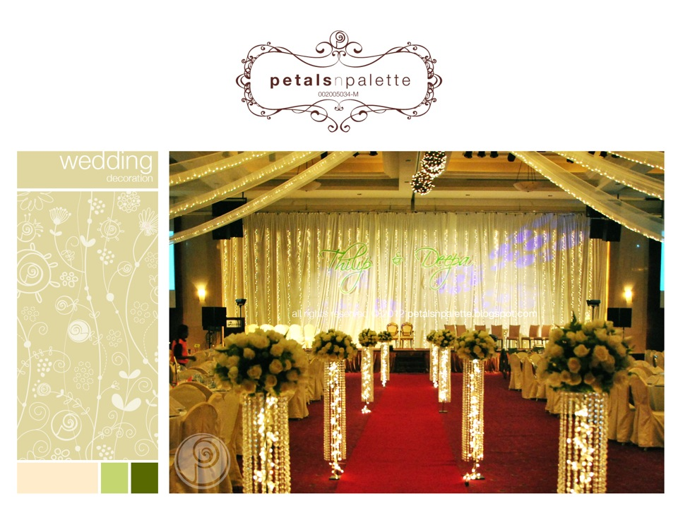 Wedding event decoration wedding decoration malaysia floral wedding decor fresh flower stand backdrop decor couples monogram junglespirit Gallery