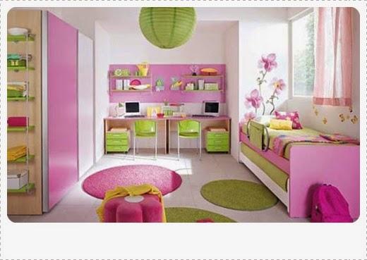 warna cat desain kamar tidur untuk anak perempuan