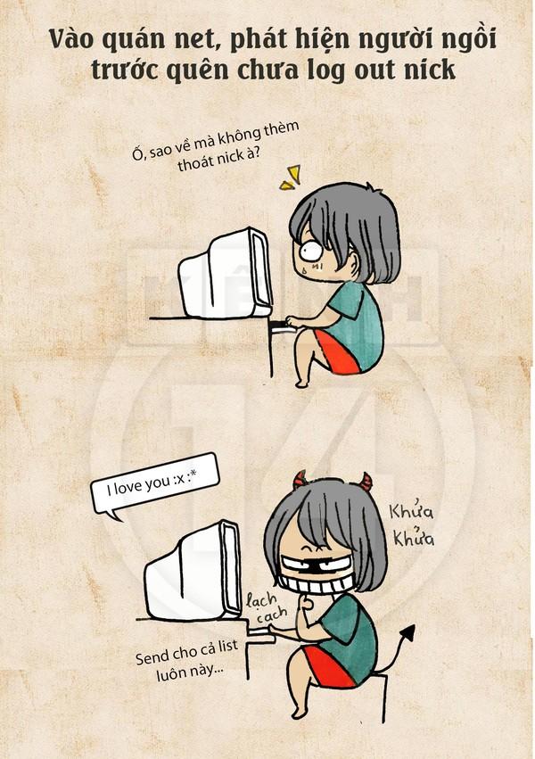 Truyện tranh hài thời chat chit tiệm net 10