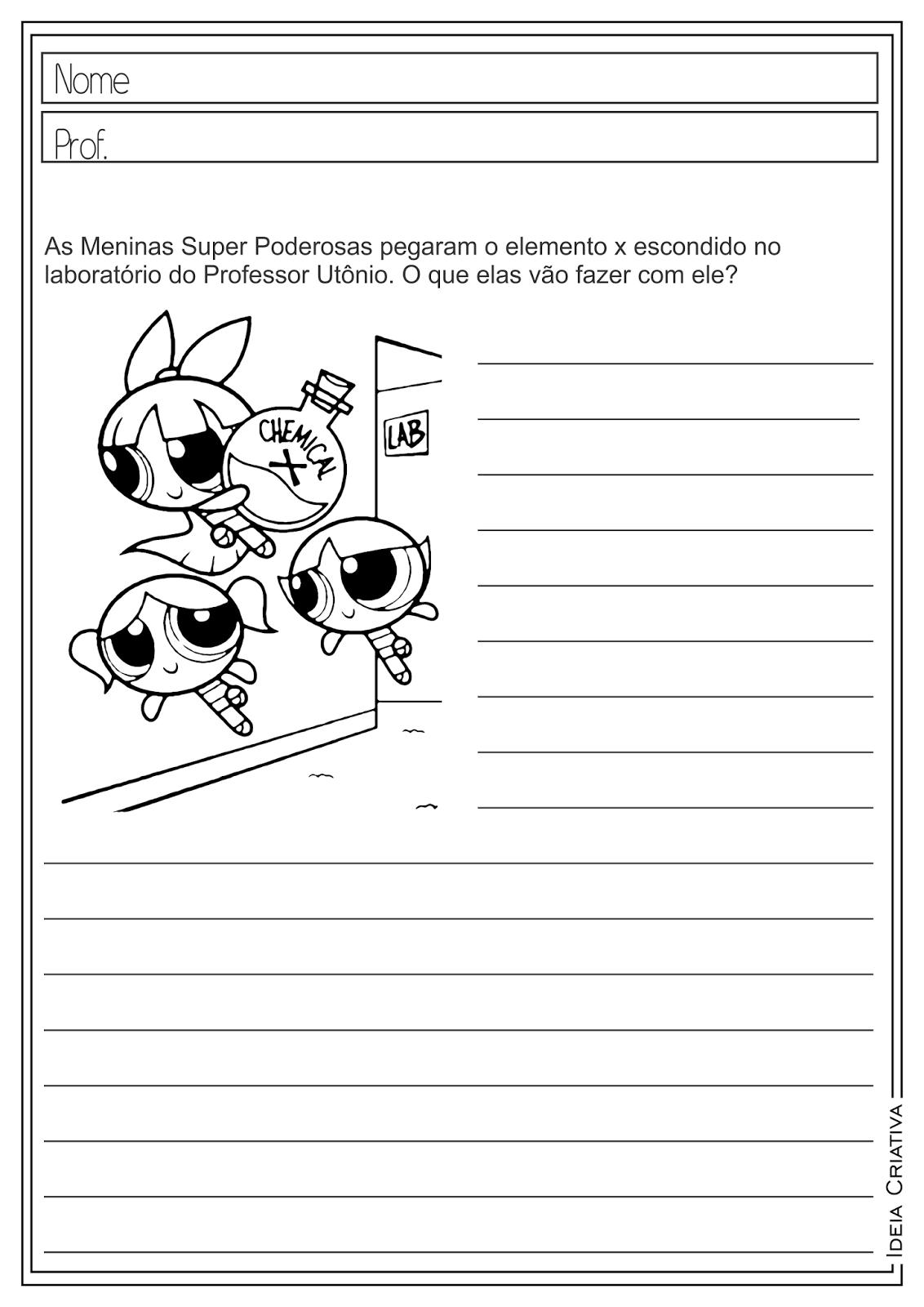 Atividades Educativas Produção de Texto Língua Portuguesa para Ensino Fundamental