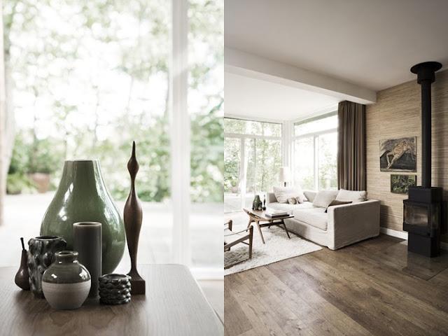 Living room vignette in a Danish home