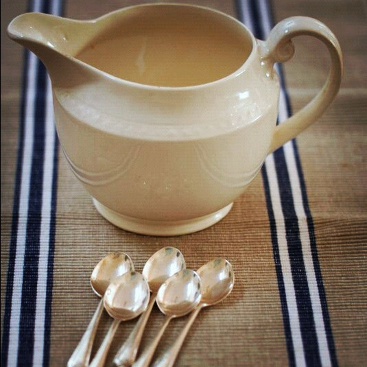 Vintage spoons and jug - market finds