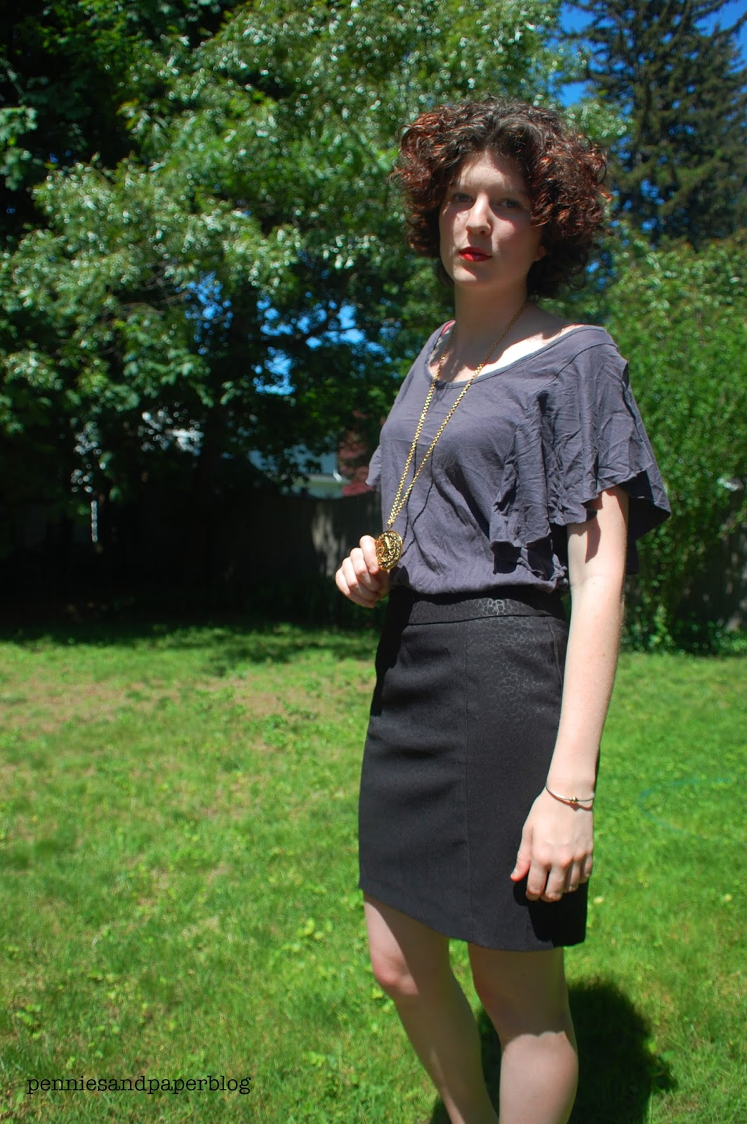 TJ Maxx skirt loose blouse thrift