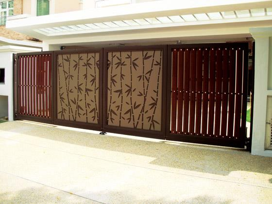 Furniture home designs modern homes main entrance gate for Modern front gate design