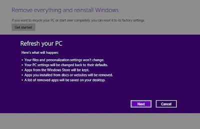 How to Refresh Windows 8.1 Without Media Installation