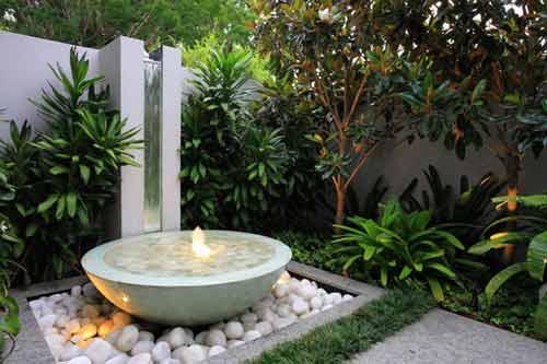 membuat desain kolam ikan untuk taman rumah minimalis