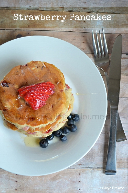 Pancakes made with Strawberries