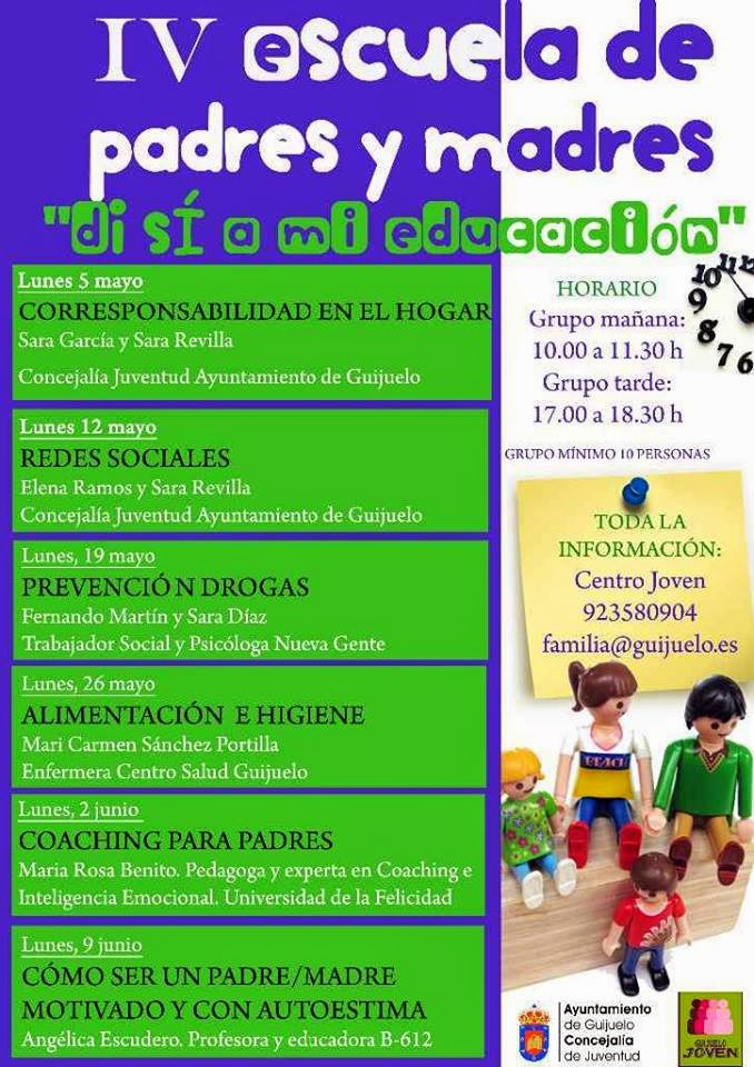 """5/mayo. IV """"Escuela de padres y madres"""". Guijuelo"""