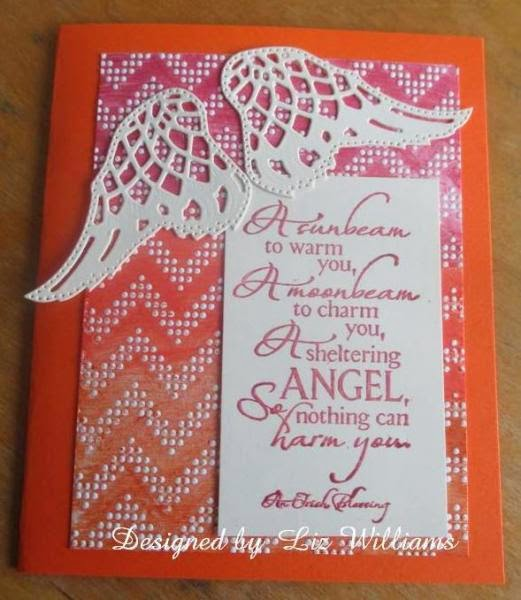 ODBD Sheltering Angel, ODBD Custom Angel Wings Dies, Card Designer Liz Williams