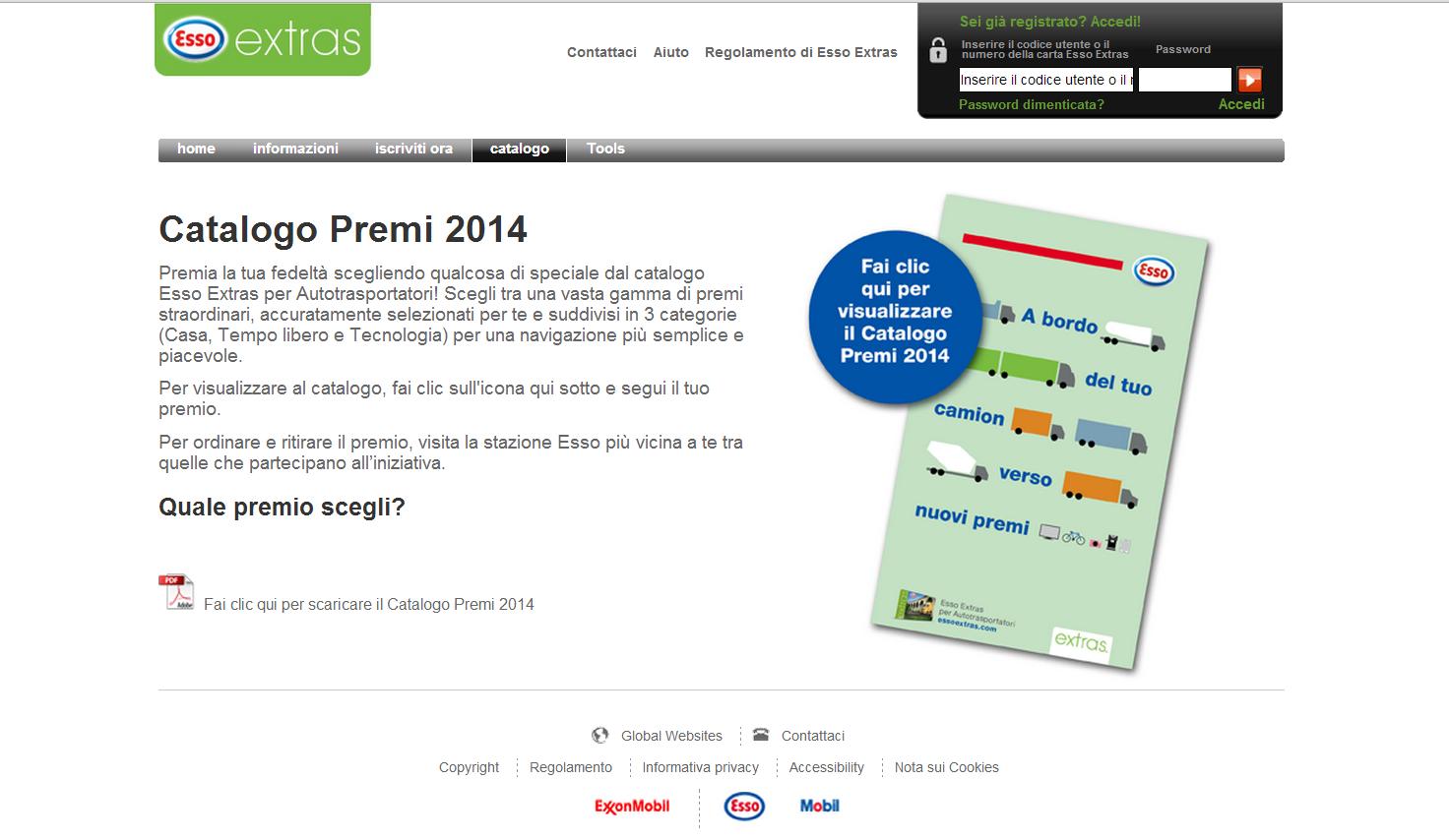 Catalogo Premi Esso Extras 2014