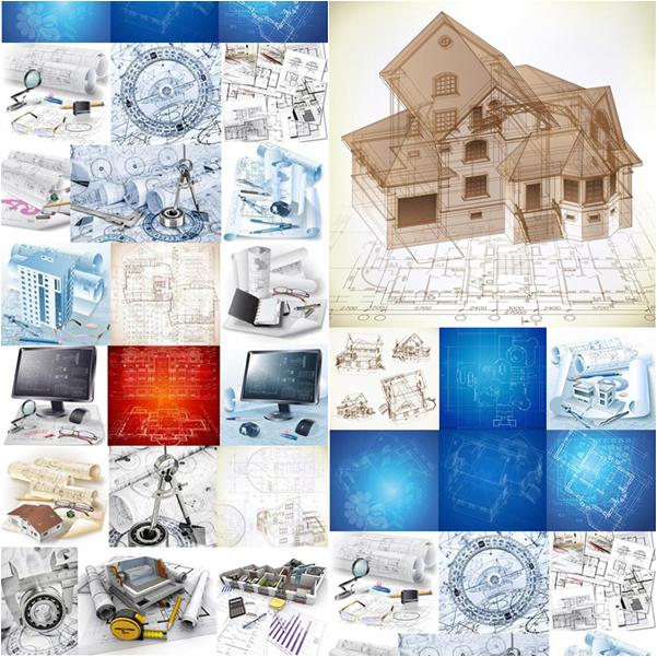 مجموعة ستوكات خرائط معمارية هندسية 2015
