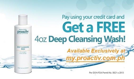 Pay Using Your Credit Card and Get a Free 4oz Deep Cleansing Wash Extended 'til Sept. 30!