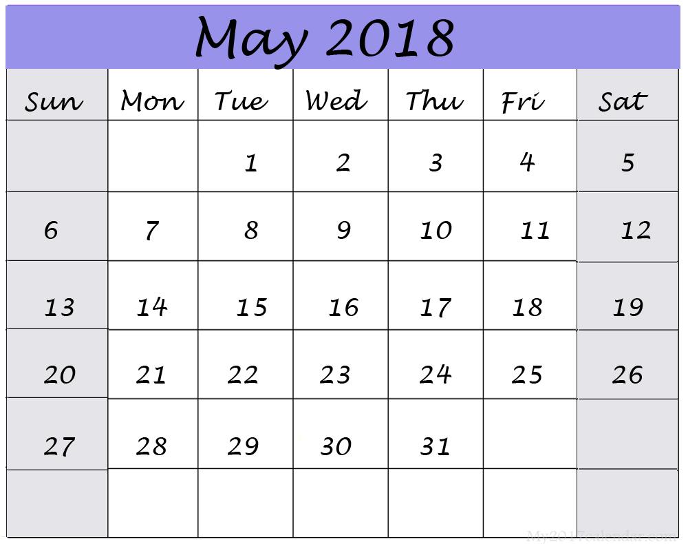 May 2018 calendar printable blank templates printable calendar 2018 print free may 2018 printable calendar may 2018 calendar may 2018 calendar printable pronofoot35fo Images
