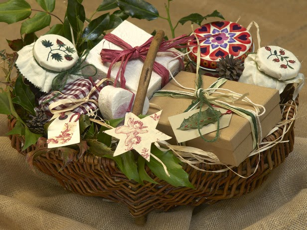 Making Christmas Gift Baskets