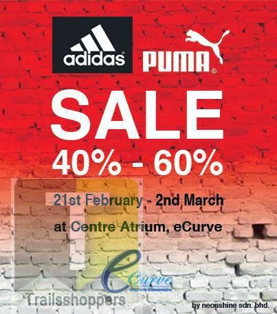Adidas Puma Sale at eCurve Shopping Mall