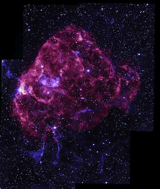 Puppis A - la supernova a forma di rosa  (immagine ai raggi X)