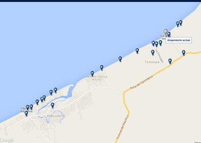 mapa como llegar - Hoteles en Ecuador Atacames Tonsupa – Hotel Casa Blanca Tonsupa