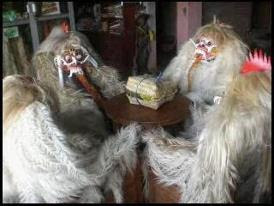 Balinese masks meeting