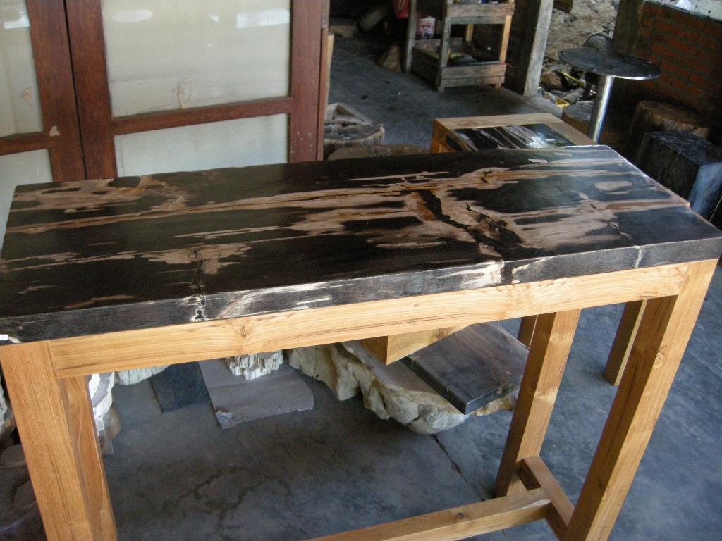 Indogemstone solid wood furniture for sale for Petrified wood furniture for sale