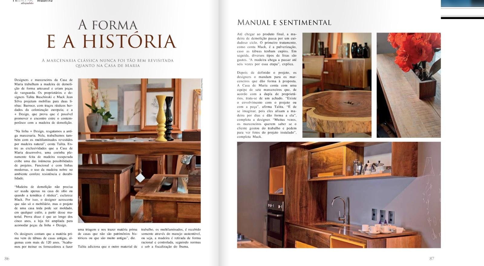 Casa de Maria Organic Design: Casa de Maria na revista Tie Briek #A53126 1600x880