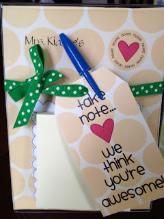 Teacher note gifts