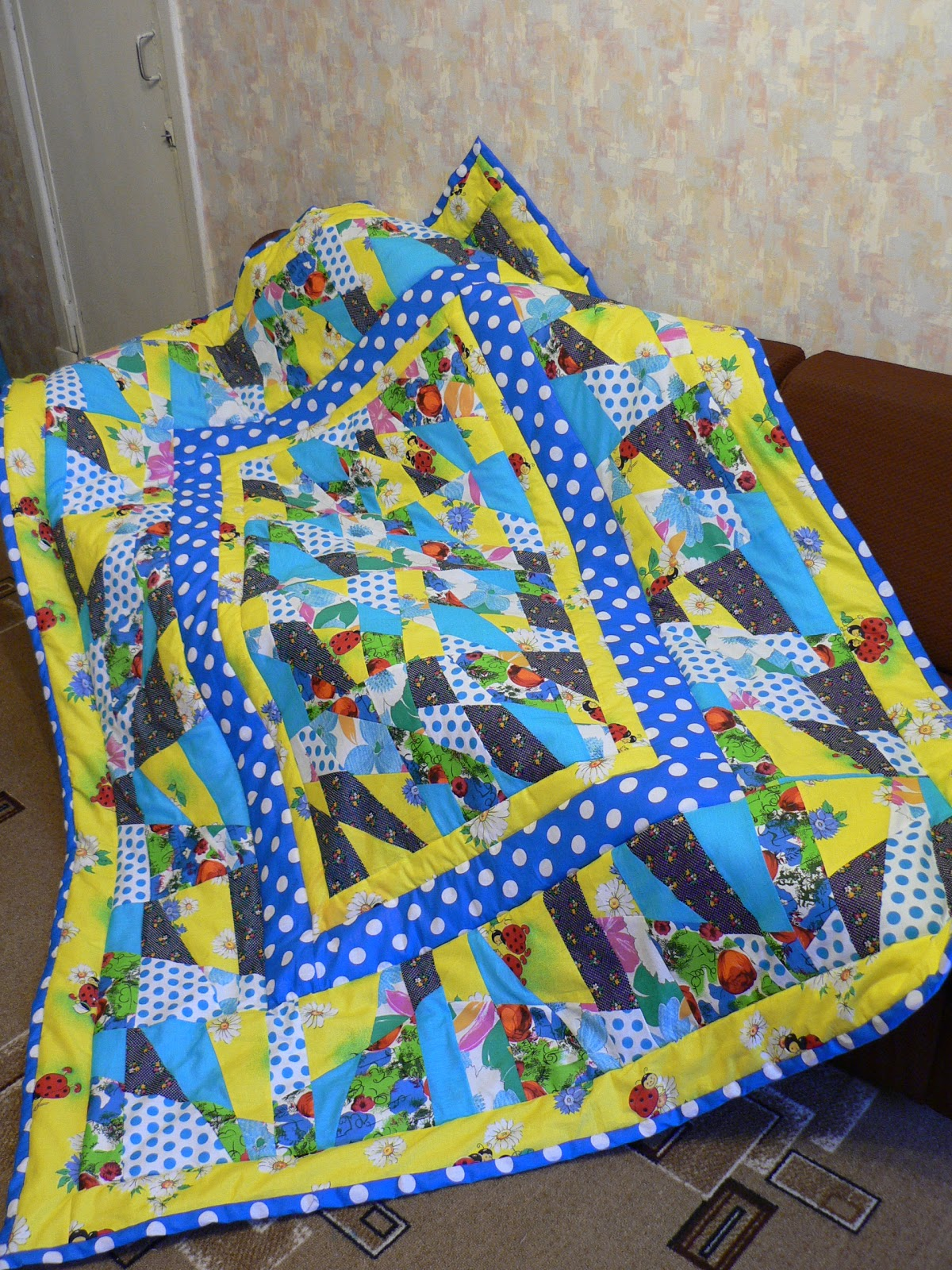Лоскутное одеяло для начинающих мастер класс 96