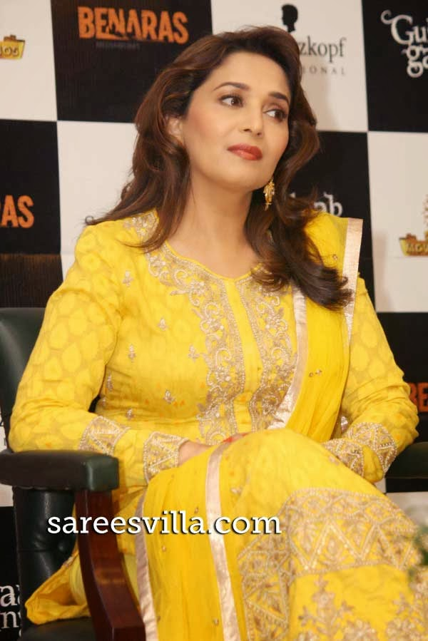Madhuri Dixit during the Promotion of `Gulaab Gang`