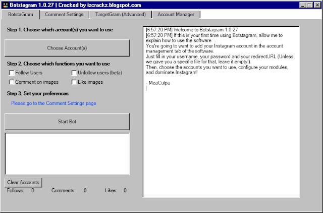 Botstagram 1.0.27.0 cracked
