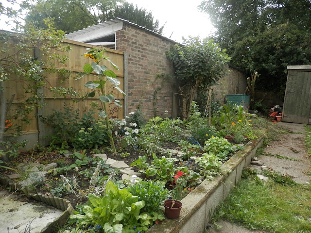 Food and flowers, edible cottage garden.  secondhandsusie.blogspot.co.uk
