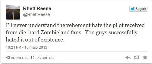 Decepção de Rhett Reese no twitter
