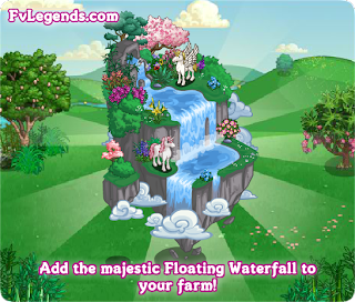 Buildable Majestic Floating Waterfall Loading Screen