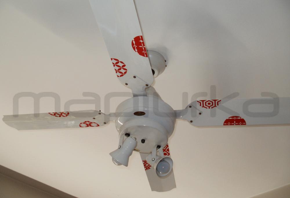 Mapiurka adhesivos decorativos ba divertido ventilador - Ventiladores techo infantiles ...