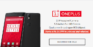 OnePlus One to go on sale for Rs 16,999 on May 20 - codertrick.com