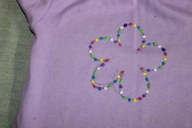 sprinkles motif - 3 D painting